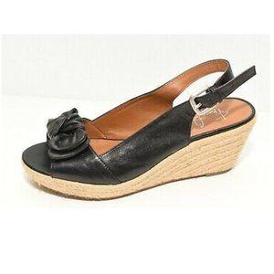 Genuine leather sandal/espadrille